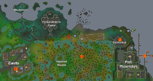 Experiment cave travel map