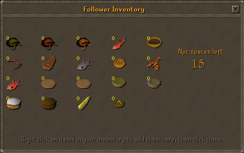 Follower inventory