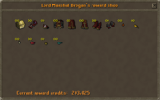 Lord Marshal Brogan's reward shop