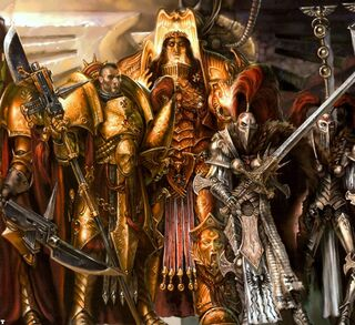 God Emperor with Adeptus Custodes and Slient Sisters