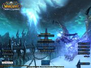 Login screen Wrath of the Lich King