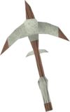 Sacred clay pickaxe detail