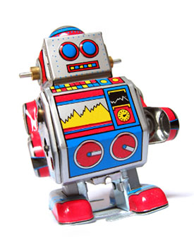 Retro-toy-robot