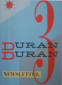 Newsletter no.3 fan club duran duran