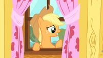 Applejack thinking of something to say S1E18