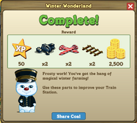 Winter Wonderland Completion Message-icon