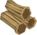 Teak logs detail