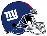 New York Giants helmet rightface