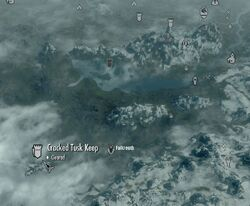 Skyrim map Cracked Tusk Keep