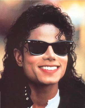 Michael jackson new hair style and sunglasses.jpg