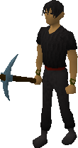 Wielded rune pickaxe
