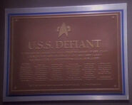 USS Defiant (2370) dedication plaque