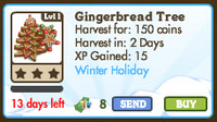 Gingerbread Tree Market Info