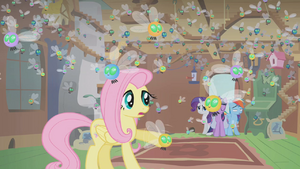 Fluttershy&#39;s cottage filled with parasprites S1E10