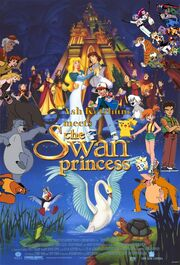 Ash Ketchum meets the Swan Princess Poster