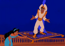 Aladdin on magic carpet