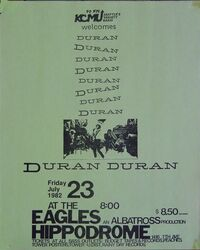 Eagles hippodrome duran duran 1982 seattle usa