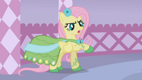 Fluttershy commenting about her dress S1E14