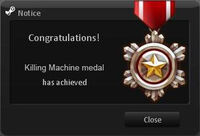 Killing Machine Medal