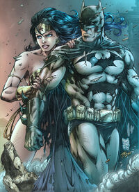 Batman and wonder woman by dinei