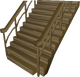 Teak staircase built