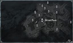 Bits and pieces map Skyrim