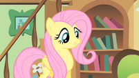 Fluttershy happy to help a mouse S1E22