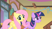 Fluttershy and awkward Twilight S01E22