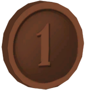 Pre-Alpha Bronze Coin &#39;&#39;1&#39;&#39;