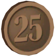 Pre-Alpha Bronze Coin &#39;&#39;25&#39;&#39;