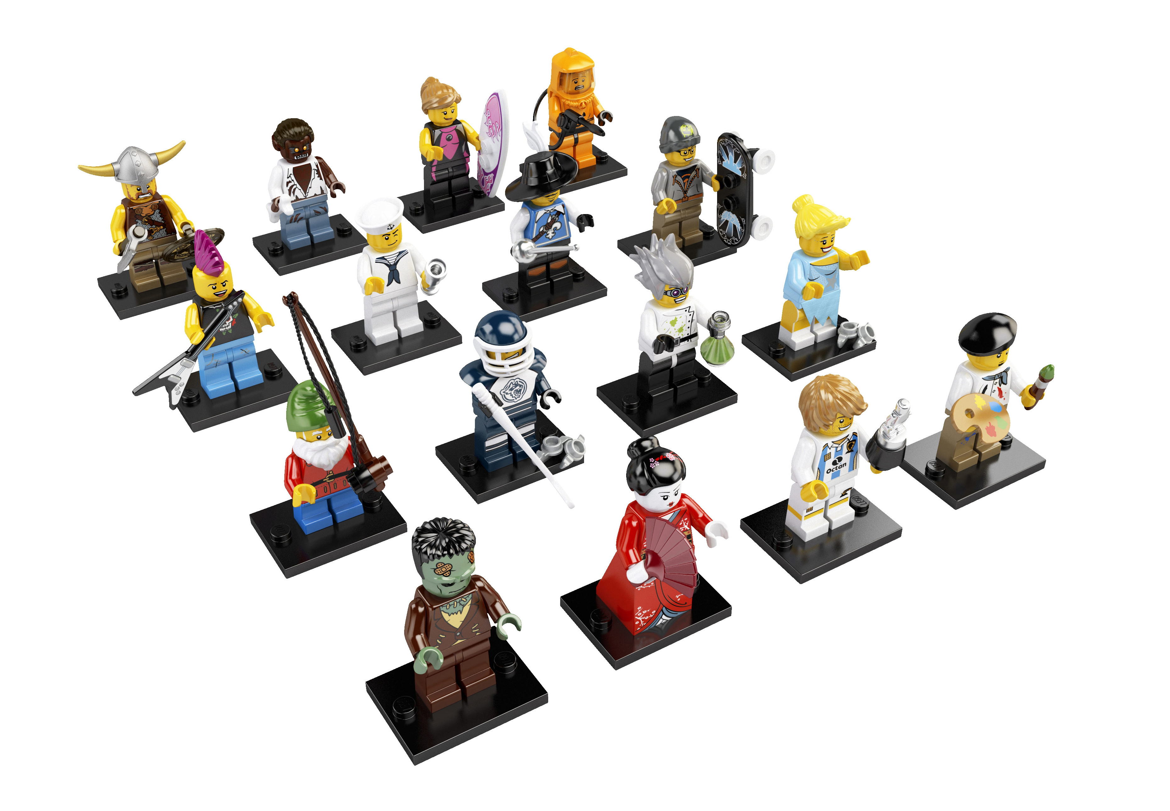 item 8804 pieces 113 each counted once minifigures artist crazy