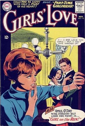Cover for Girls' Love Stories #115