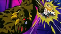 Bio Broly punches Trunks