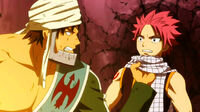 Simon angry at Natsu