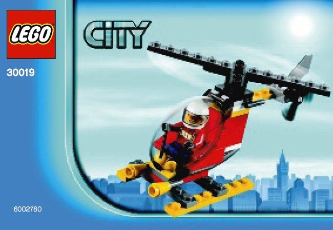 Схемы и инструкции LEGO City - Fire Helicopter (Пожарный вертолёт) - Lego City 30019.