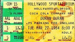 Hollywood Sportatorium, Hollywood, FL (USA) duran duran