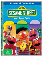Sesame Street Essential Collection Numbers 3 Pack DVD 3D R-112280-9