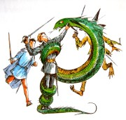 Snake lady of the green kirtle