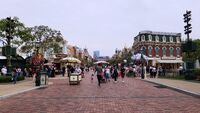 Main Street USA of Hong Kong Disneyland