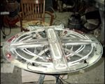 Galaxy-Class 4-foot studio model build-up process, neon lights. jpg