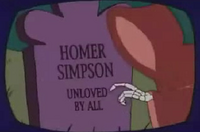 Homer&#39;s gravestone
