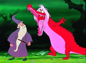 Madam Mim as a Alligator