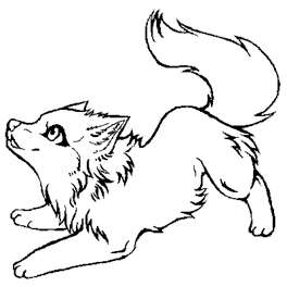Image wolf coloring animaljam rush wiki for Animal jam arctic wolf coloring pages