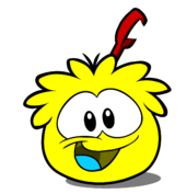 Yellow Puffle paper