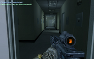 Hallway past TV station entrance Charlie Don't Surf CoD4