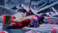 Trunks hugging Gohan's dead body