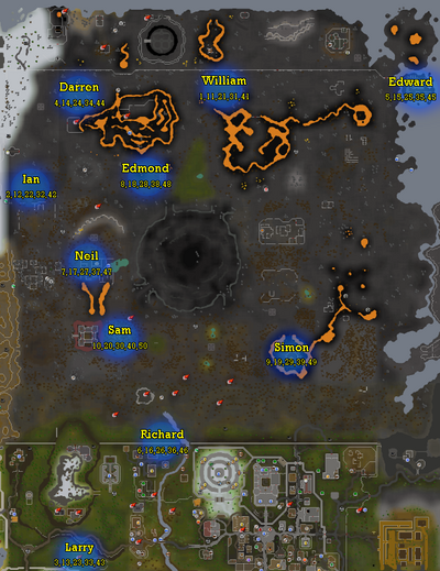 Wilderness team cape map