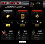 Dead or Alive Menu