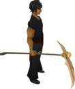 Golden scythe equipped.png