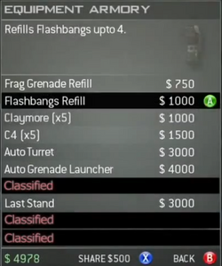 Survival Mode Screenshot Equipment Armory Flashbangs Refill